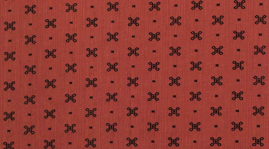 Georgian Embroidered Motif Red