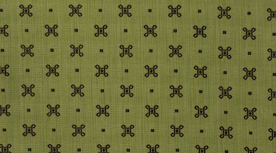 Georgian Embroidered Motif Green