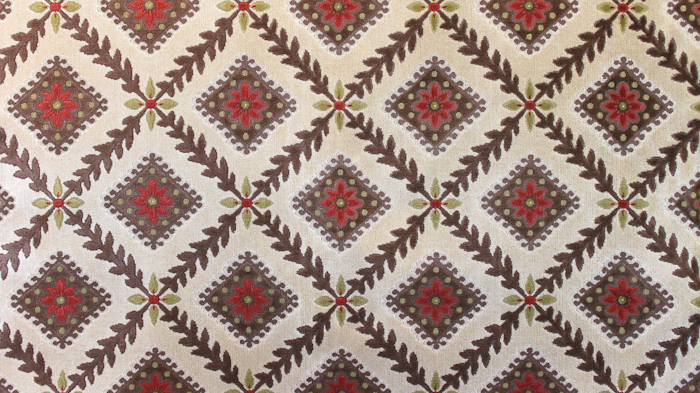 Chatsworth Linen Velvet Cream Ground/Brown Diamond
