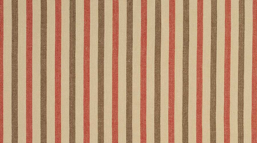 Birmingham Stripe Red Brown