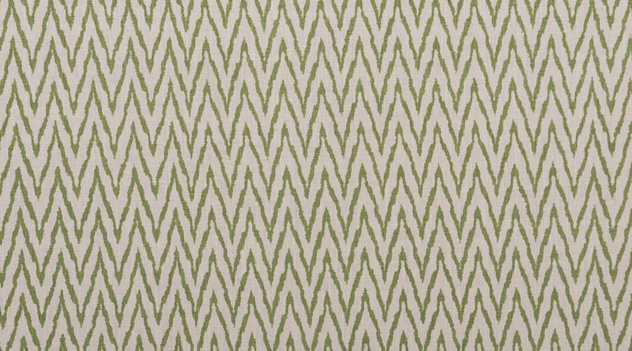 Flame Stitch Ikat Print Green