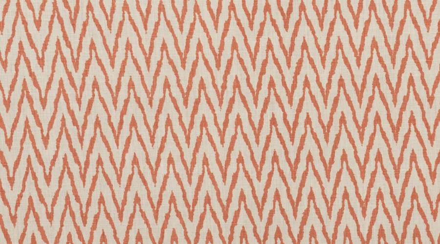Flame Stitch Ikat Print Orange