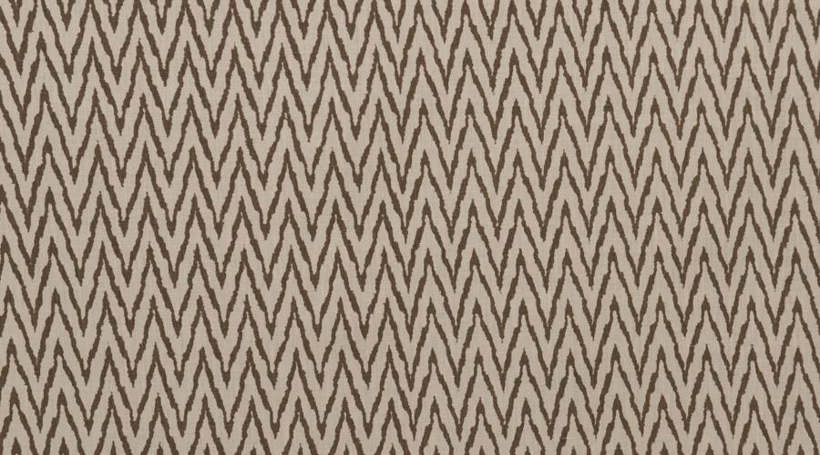 Flame Stitch Ikat Print Brown